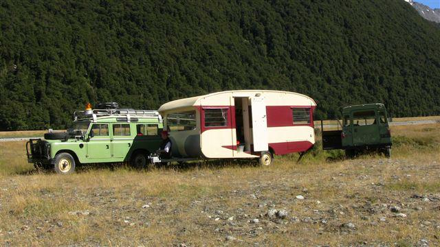 Where the caravan was left whilst we fixed the diff