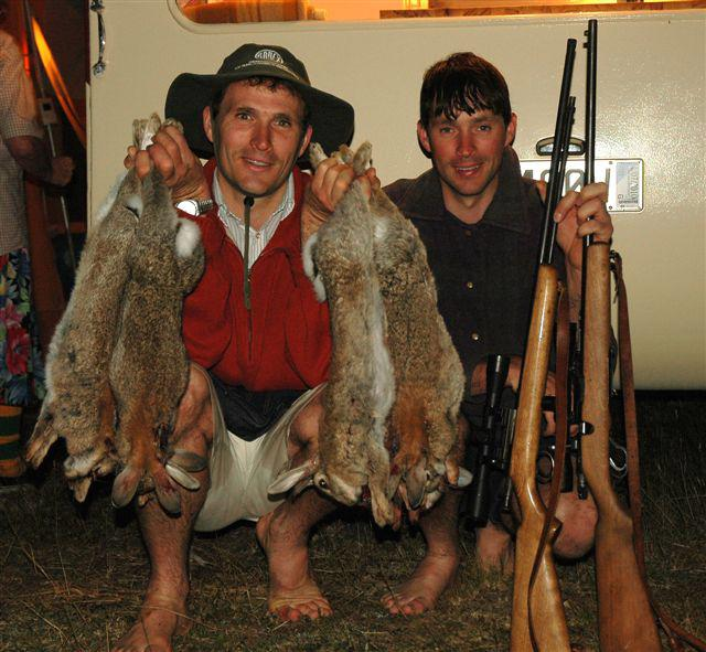 The hunters with the next days meal