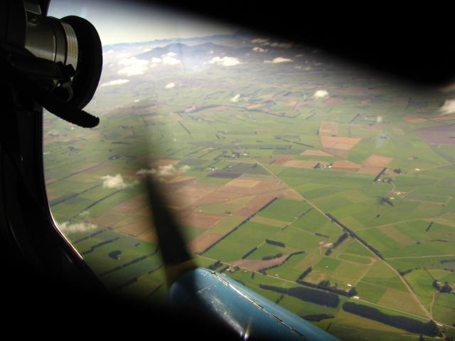 View from the DH Dragonfly during the test flight above Mandeville