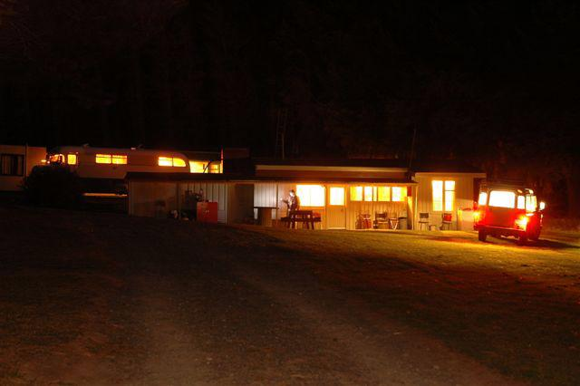 The Base Camp at night